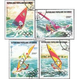 congo (brazzaville) 980-983 (complète.Edition.) oblitéré 1984 médaillé 1984 Sports nautiques