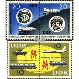DDR wzd90,wzd94 (complète.Edition.) oblitéré 1963 groupe de vol, Foire d