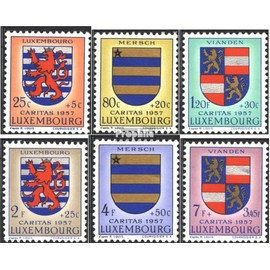 Luxembourg 575-580 (complète.Edition.) neuf avec gomme originale 1957 luxembourg Crest