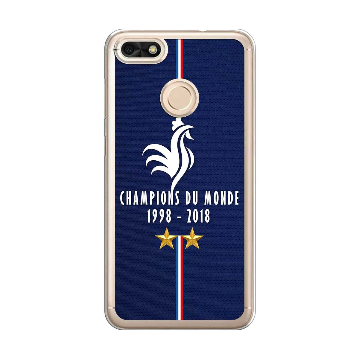 Coque Huawei Y6 2018 Rigide Transparente, Champions Du Monde 1998 2018 de Football de la FFF !