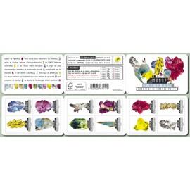 france 2016, très belle bande carnet neuve** luxe yvert 1218, le monde minéral, 12 timbres auto-adhésifs à validité permanente lettre prioritaire yvert 1218 à 1229.