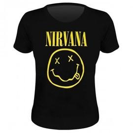 T-shirt nirvana smiley femme