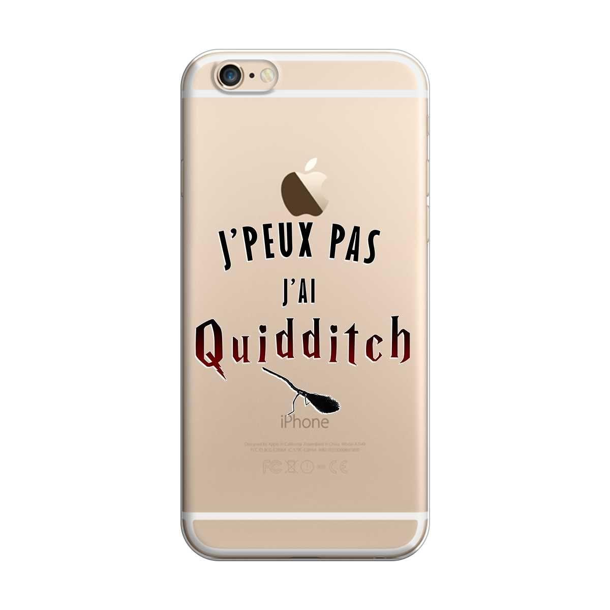 Coque harry potter pour iPhone 6 et 6s : Je peux pas j ai Quidditch. Coque avec bords souple anti-choc et arrière rigide pour une protection optimal !