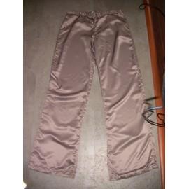 Pantalon Satin Beige Foncé Taille S 36 38 Hetm aa056380335
