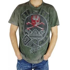 T-shirt death squad men's black stonewashed vintage neuf