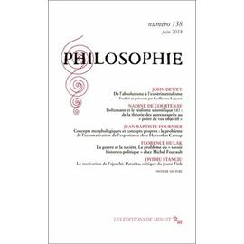 Philosophie N° 138, Juin 2018 - Dominique Pradelle