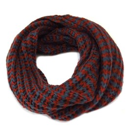 906f3641542 Echarpe Tube   Snood  indispensable  Rouge Gris
