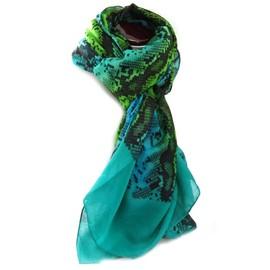 5954ae66e5c Echarpe Polyester  carmen  Vert (Python) - 110x180 Cm