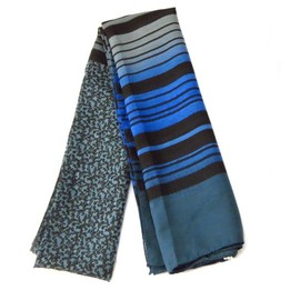eea0628ee02 Echarpe Polyester  coloriage  Bleu - 110x180 Cm