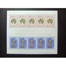 MONACO 1976 EUROPA CEPT Céramiques Cerámicas Yvert Bloc 12 ** MNH