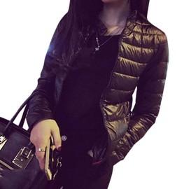 Veste Blouson Femme Manteau Courte Doudoune Chaud Hiver Manche Longue Duvet  M-Xxxl Noir ab2e4117d6b