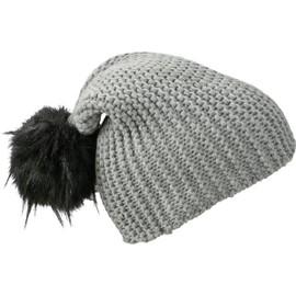 Bonnet En Tricot Avec Pompon Extra Large - Mb7984 - Gris Argent 2951415d1f6