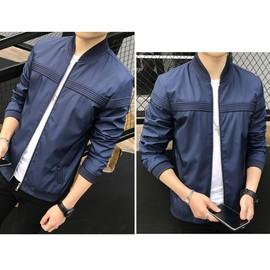 82f67e924b19 Veste Homme Manteau Baseball Blouson Jacket Manche Longue Outwear Pardessus  Zipper M L Xl Gris