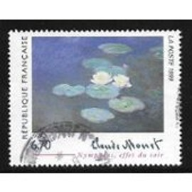 timbre Monet - les nymphéas