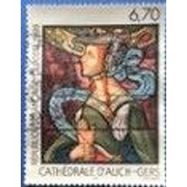 timbre oblitéré cathédrale d