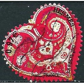 france 2013, bel exemplaire yvert 788, timbre auto-adhésif à 0.97€, le coeur par hermès, oblitéré, TBE