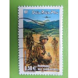 Timbre France YT 3667 - Cinquantenaire bataille Diên Biên Phu (Vietnam) - Soldats - Parachutage - 2004