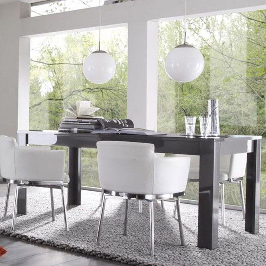 table salle a manger gris laque pas cher ou d\'occasion sur Rakuten
