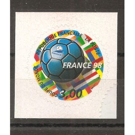 3140 (1998) France 98 Coupe du Monde de Football Adhésif N** (cote 1,5e) (6330)
