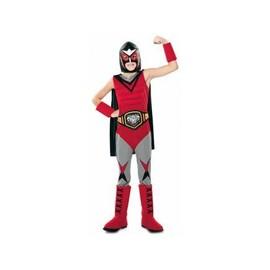 3f9f2e9429ad Costume Deguisement Champion De Catch Enfant 5-6 Ans - Panoplie Complete  Catcheur