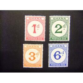 GHANA 1958 Timbres de Cotê de l` Or 1923-1952 GHANA Yvert tax 6 / 9 ** MNH