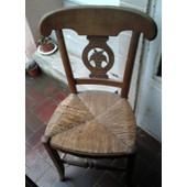 2 Chaise Ancienne En Paille Et Bois