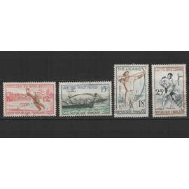 France, timbres-poste obl