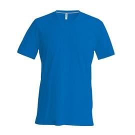 T-shirt manches courtes col V - K357 - bleu roi - homme