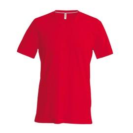 T-shirt manches courtes col V - K357 - rouge - homme