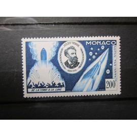MONACO. POSTE AÉRIENNE. TIMBRE N°60 (1955). CINQUANTENAIRE DE LA MORT DE JULES VERNE