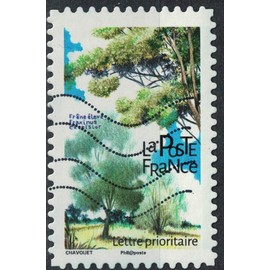France 2018 Oblitéré Used Arbres Frêne élevé Fraxinus Excelsior