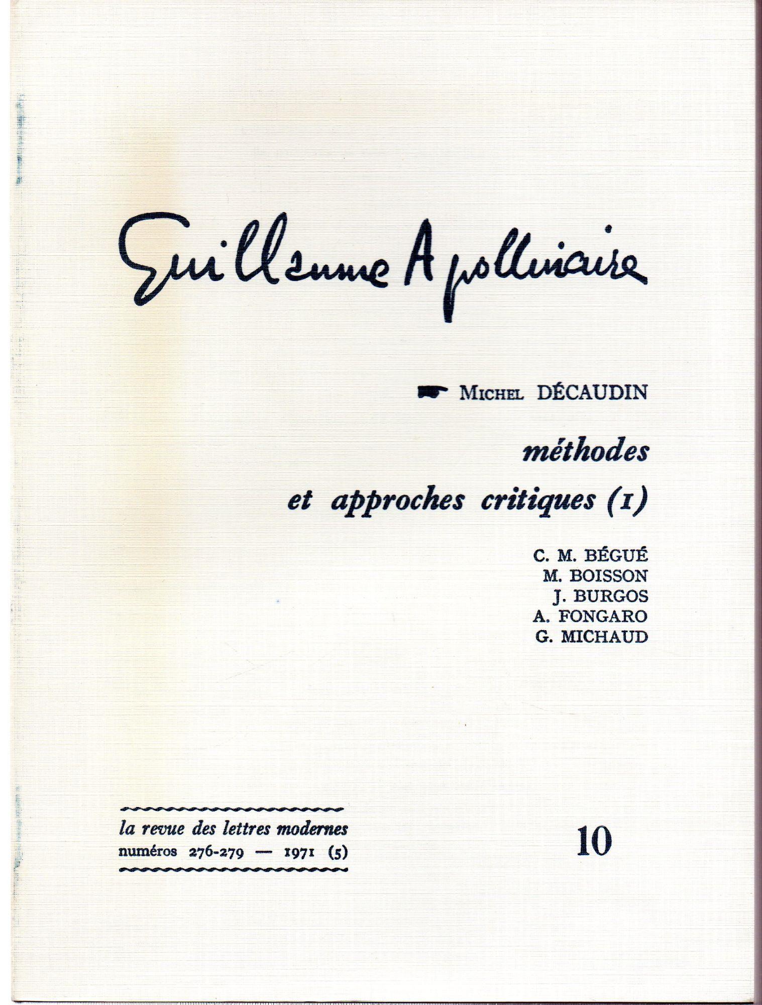 Guillaume Apollinaire - Comparez les prix des Livres d