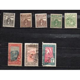 Tunisie- Lot de timbres neufs- Taxe et lot de 3 timbres oblitérés Colis Postaux