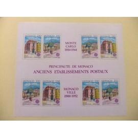 MONACO 1990 EUROPA CEPT ANTIGUOS EDIFICIOS DE CORREOS YVERT BLOC 49 ** MNH