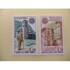 ANDORRA FRANCESA 1979 EUROPA CEPT ARQUITECTURA YVERT 276 / 77 ** MNH