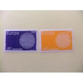 ANDORRA FRANCESA 1970 EUROPA CEPT TURISMO YVERT 202 /03 ** MNH
