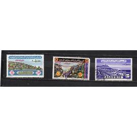 Algérie- Série de 3 timbres oblitérés Poste aérienne
