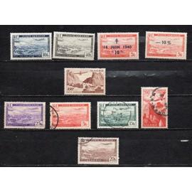 Algérie- Lot de 5 timbres neufs et 5 timbres oblitérés- Poste aérienne