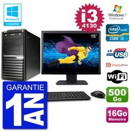 PC Acer Veriton M4630G MT Ecran 19 quot; i3-4130 RAM 16Go Disque 500Go DVD Wifi W7