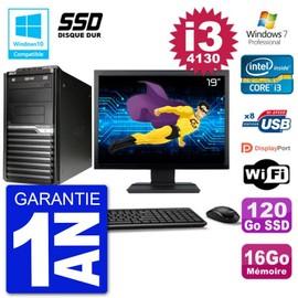 PC Acer Veriton M4630G MT Ecran 19 quot; i3-4130 RAM 16Go SSD 120Go DVD Wifi W7