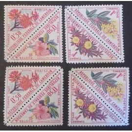 cameroun taxe neuf et oblitéré y et t n° 35 à 38 lot de 8 timbres de 1963