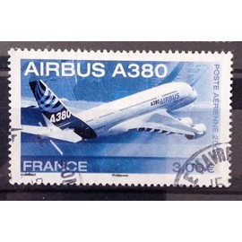 Airbus A380 3,00€ (Très Joli Aérienne n° 69) Obl - Cote 3,00€ - France Année 2006 - N10228