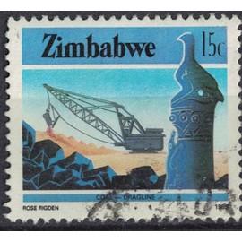 Zimbabwe 1985 Oblitéré Used Coal Mining Dragline Mine de Charbon