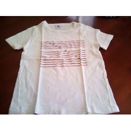 70efe3cd5739f Ti-Shirt Petit Bateau - 10 Ans - Blanc Bleu Rouge