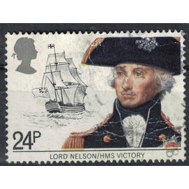 Royaume Uni 1982 Oblitéré Used Lord Nelson et le vaisseau HMS Victory navire SU