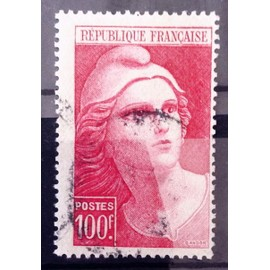 Gandon Grand 100f carmin (Joli n° 733) Obl - Cote 7,65€ - France Année 1945 - N4198