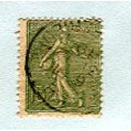"""Timbre Oblitéré - """" Semeuse Lignée """" - 15c - Roty / Mouchon - 1903"""