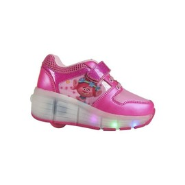 sports shoes 65e78 3e2f2 Les Trolls Baskets Hautes A Led Et Roulettes - Enfant Fille - Rose Fuchsia  30 -