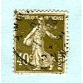 """Timbre Oblitéré - Type """" Semeuse Camée """" - 40 Cts - Roty / Mouchon - 1925"""