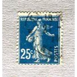 """Timbre Oblitéré - Type """" Semeuse Camée """" - 25 Cts - Roty / Mouchon - 1907"""